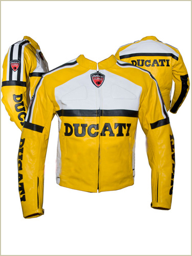 Ducati Brand Yellow Motorbike leather jacket