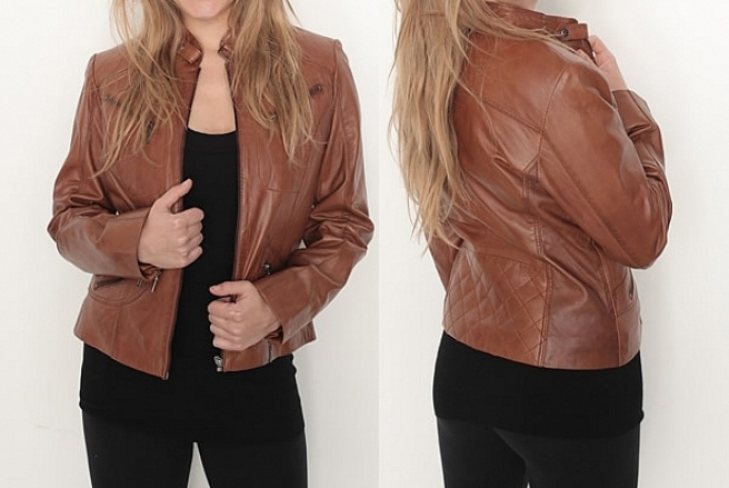 Ladies leather jackets fashion