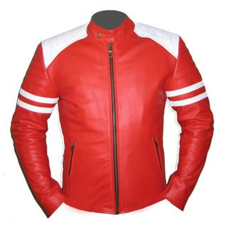 Red Leather Biker Jacket Men Red And Black | Picture Rumah Minimalis