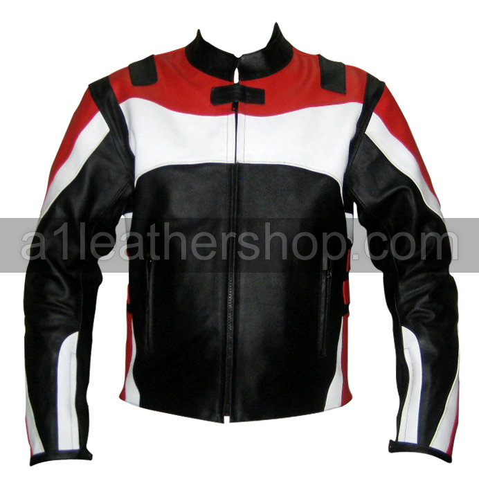 Stylish Color Motorcycle Leather Jacket