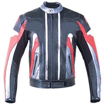 Colorful Motorcycle Leather Jacket