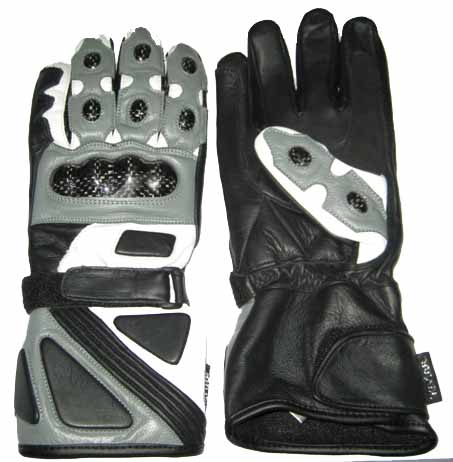 Motorbike Black Color Leather Gloves