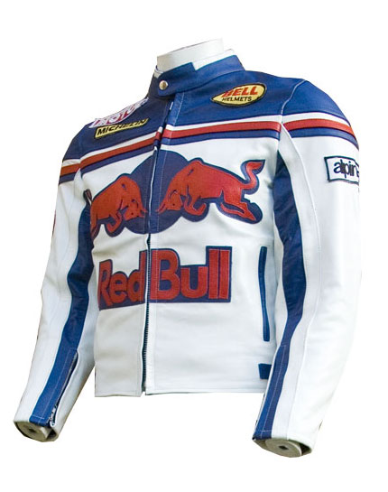New Red Bull Mens Motorbike Leather Jacket