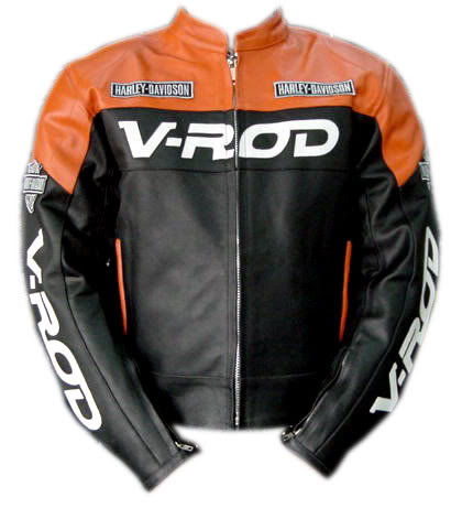 V ROD Beautiful Color Motorbike cowhide Leather Jacket