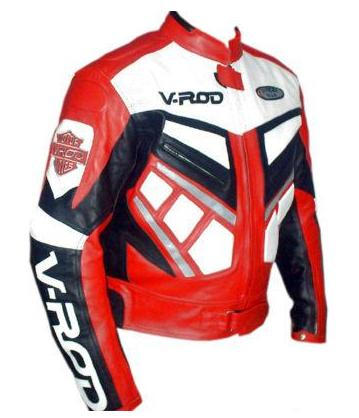 V ROD Mens Motorbike Racing Leather Jacket