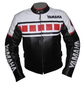 Yamaha Brand Racing Motorbike Leather Jacket