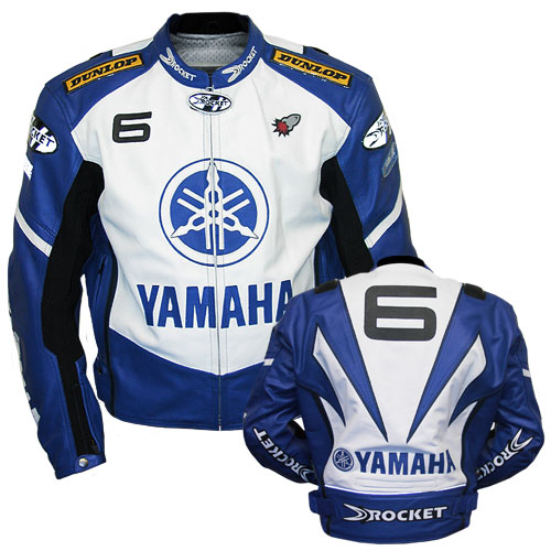 Yamaha 6 rocket biker leather jacket