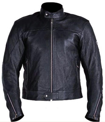 Full black colour motorcycle leather jacket