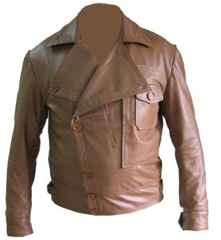 mens stylish soft aniline leather jacket